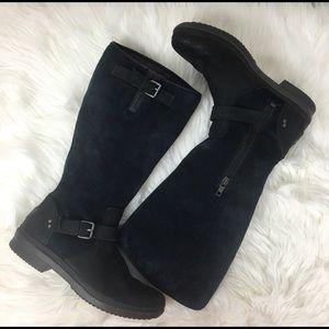 Ugg Thomsen black waterproof suede boots, size 8.